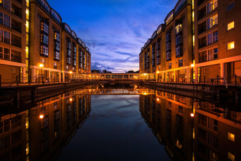 apartments overlooking water
